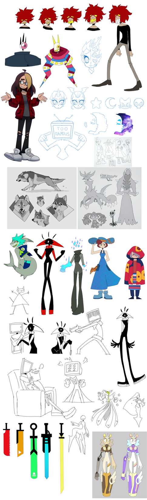 a buncha doodles dump by UnknownSpy