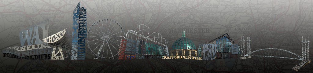 Manchester skyline made out of text! by JSPatman