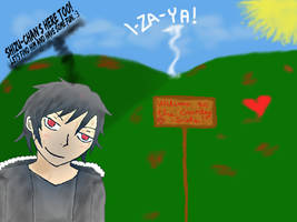 Izaya at the countryside...o.o by mikrilla