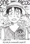 Luffy X Bird...school doodle
