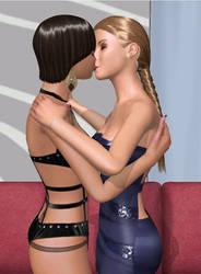 Lesbians Kiss 5 by PiyaneeThai