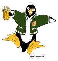 Drunken Penguin by eggybot