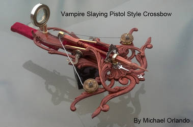 Steampunk Vampire Slaying Pistol Crossbow by MichaelOrlandoArt