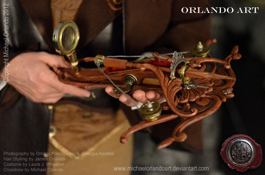 Steampunk Vampire Hunter Crossbow by MichaelOrlandoArt
