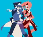 Jotaro and kakyoin