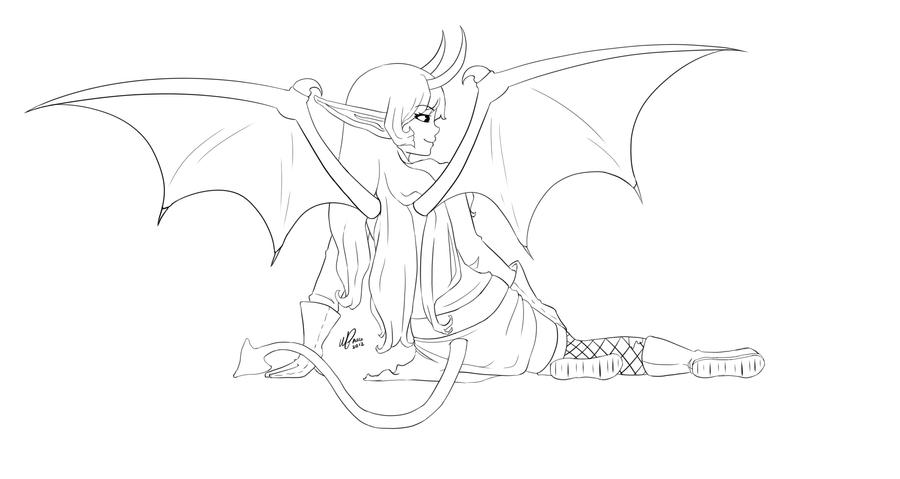 Alexlinear Demon Girl Color