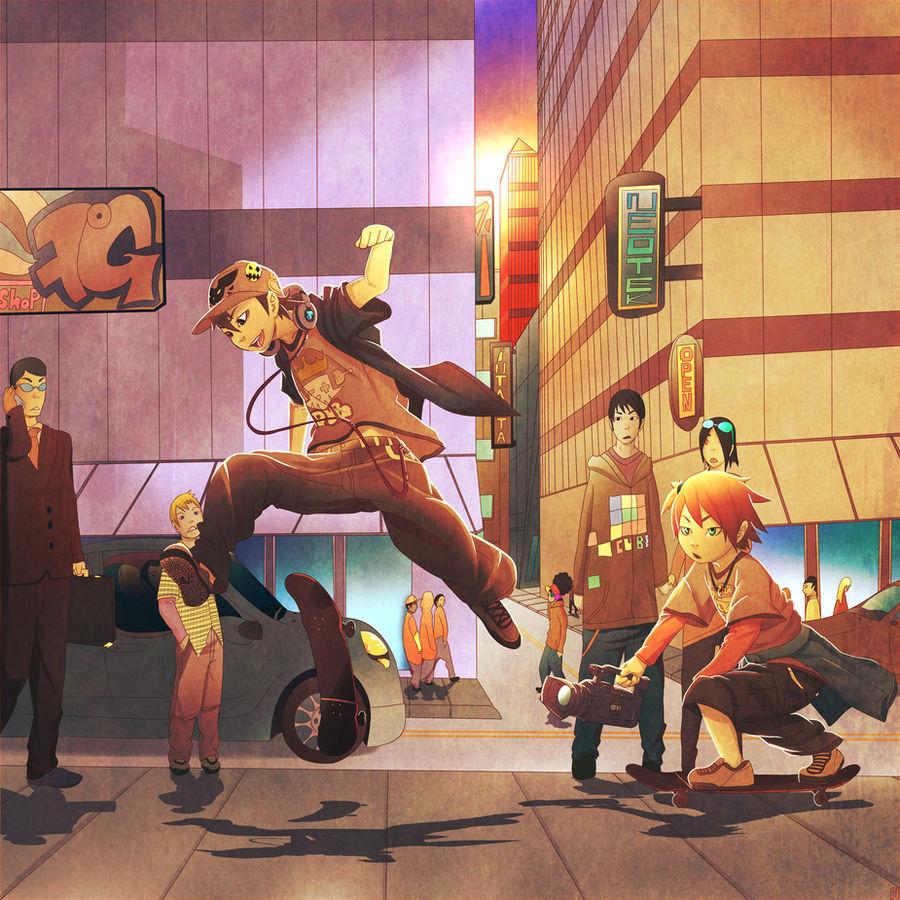 EVOLUTION X a skateboard manga 2