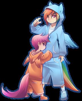 Rainbowdash And scootaloo