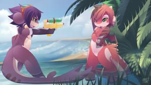 RU and Mako beach fun