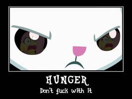My Little Bunny Hunger Demotivational by DiggerEl7