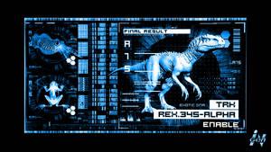 Jurassic World - Indominus Rex - 3D DNA Screen by DiggerEl7