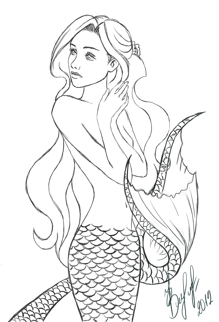 The gallery for --> Realistic Mermaids Drawings