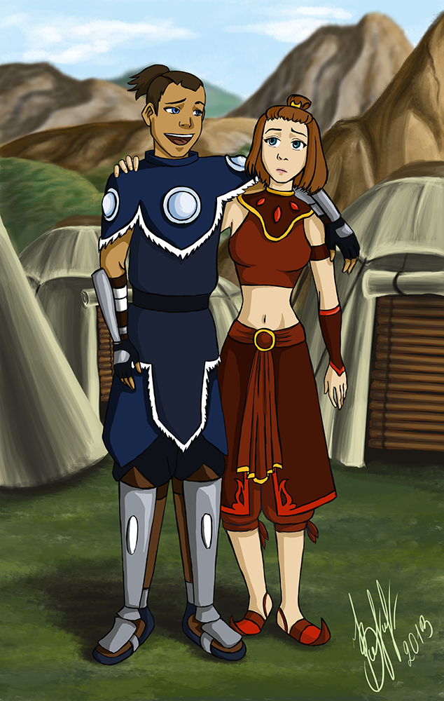 Avatar the last airbender katara and suki