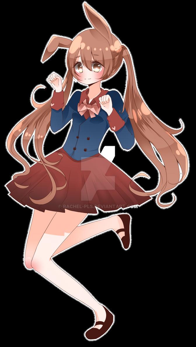 kawaii bunny girl by rachel pls on deviantart