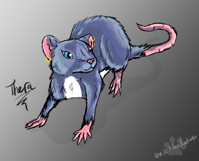 Thera the Rat by VilotShadowHunter