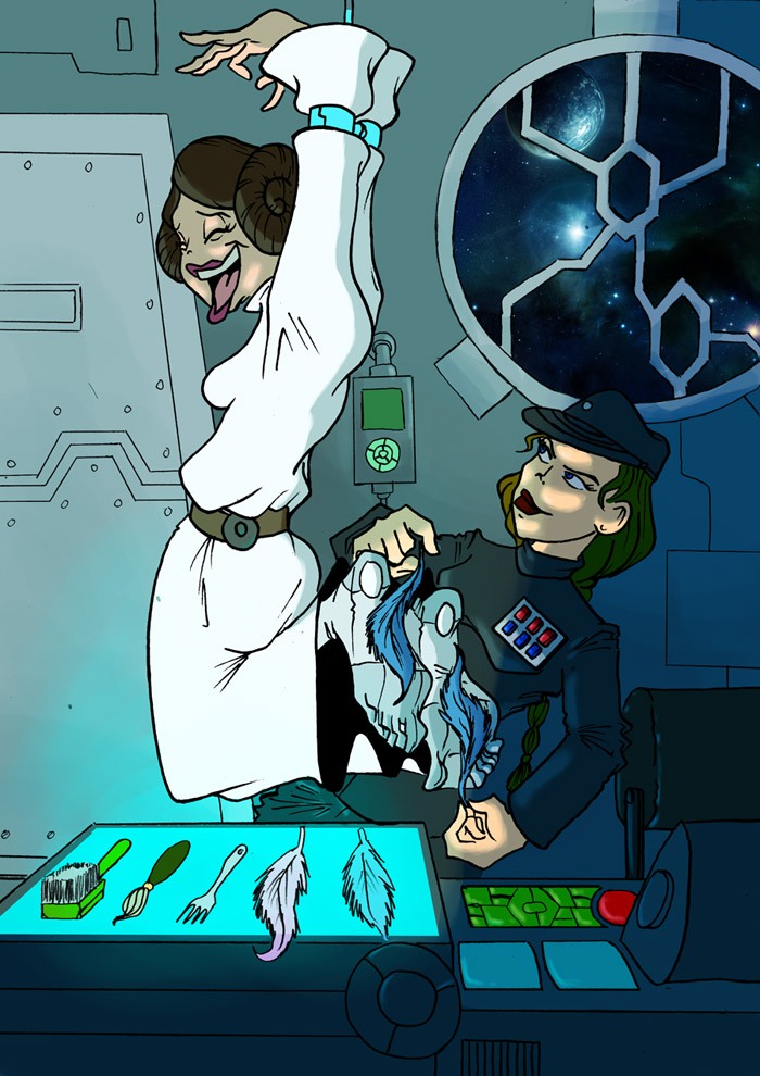 Star wars princess leia interrogation that interfere