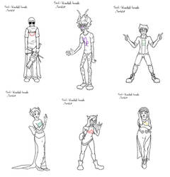 Character Outlines by Teal-Blooded-Hands