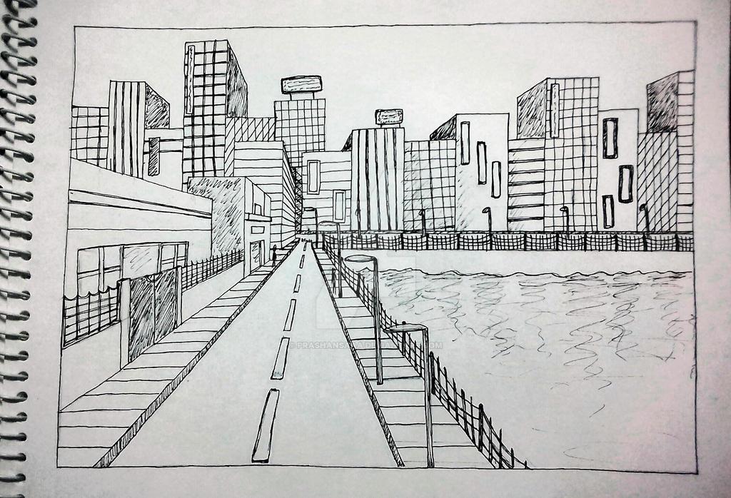 Sketching: one point perspective by PRASHANSAAA on DeviantArt