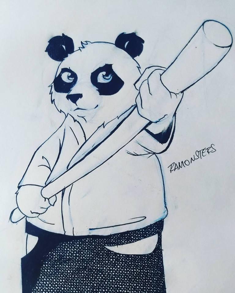 Panda aikidoka by Ramonsters