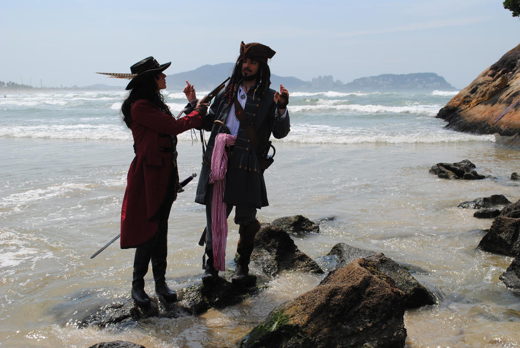 Angelica Teach and Jack Sparrow by BabiSparrow
