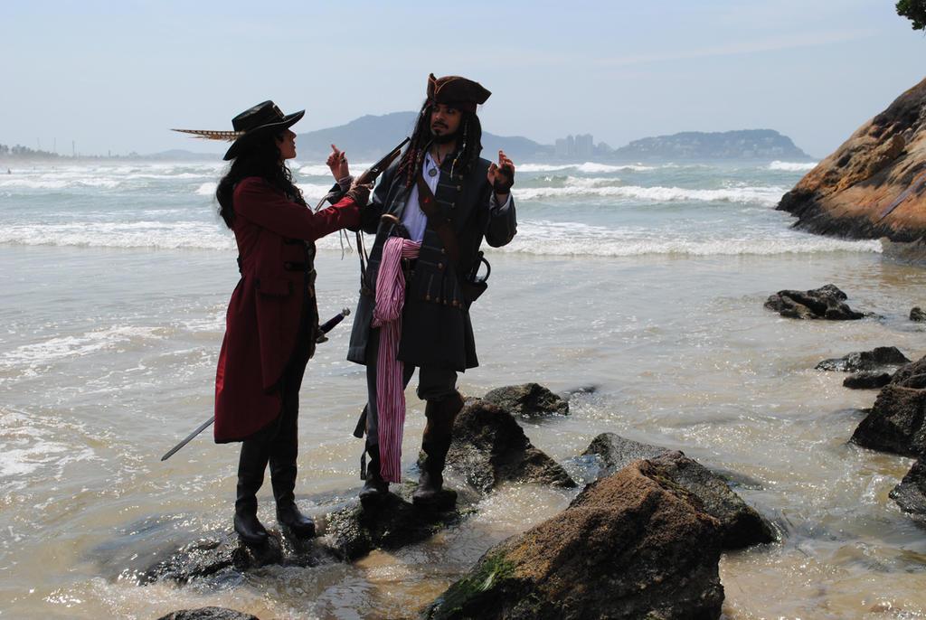 Angelica Teach and Jack Sparrow by BabiSparrow