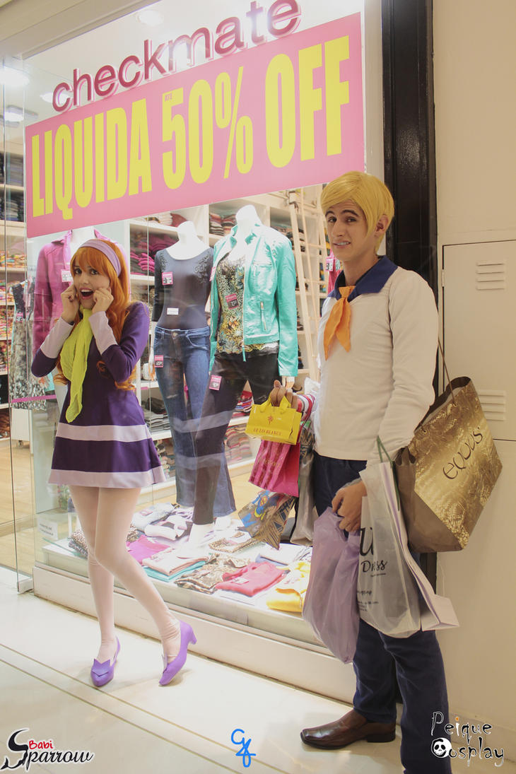 Daphne Blake and Fred Jones *--* Scooby Doo by BabiSparrow