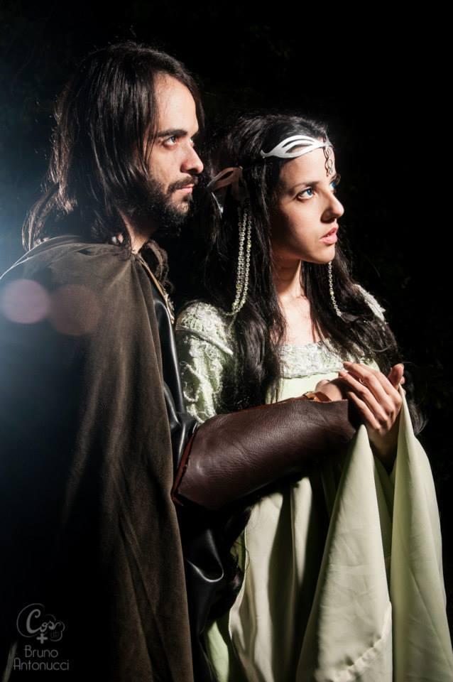 Arwen Undomiel and Aragorn by BabiSparrow