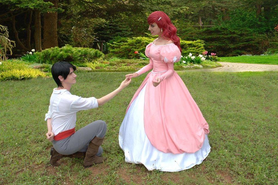 Ariel and Eric Cosplay -  Pink Dress by BabiSparrow