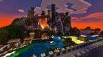 Minecraft Castle on a mountain
