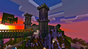 Minecraft Castle by skrufor
