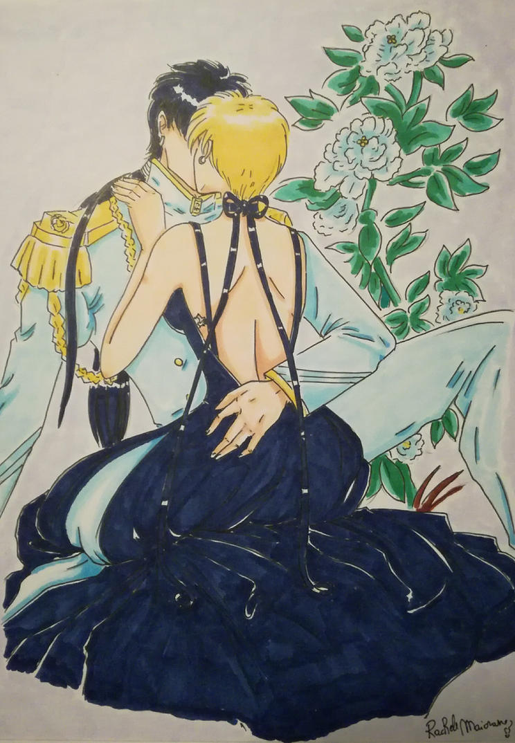 Romantic Moment  Uranus and Fighter kiss by Vianne1013