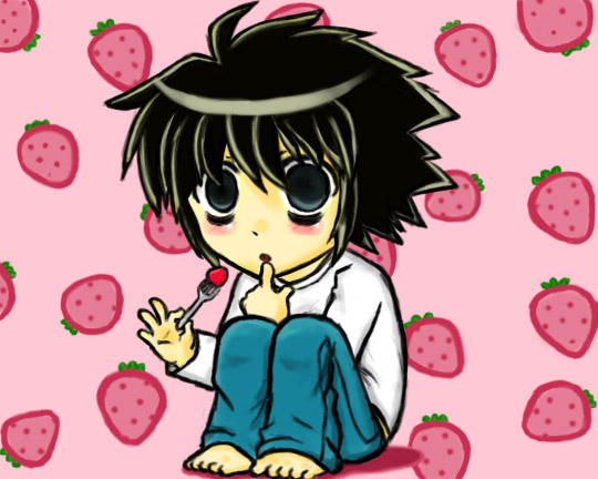 L chibi form from Death Note by PandaPoW on DeviantArt