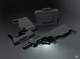 BENoe.P75.SSMG2B Suitcase SubMachine Gun by b-e-noe