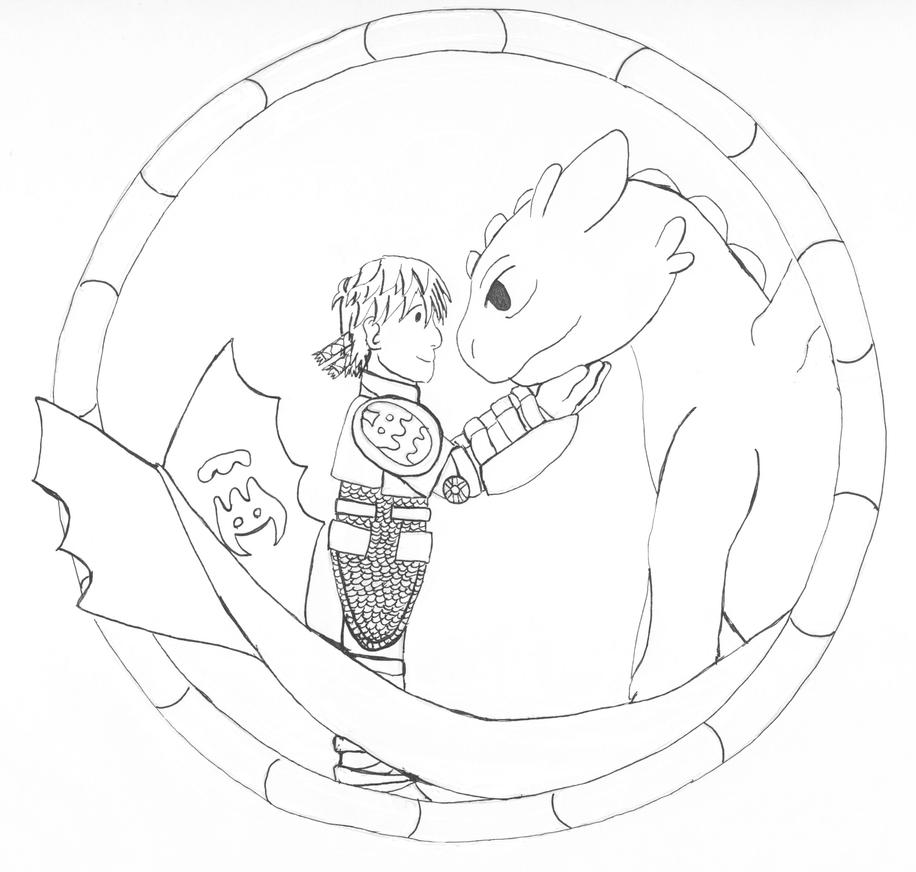 Hiccup and Toothless by earthstar