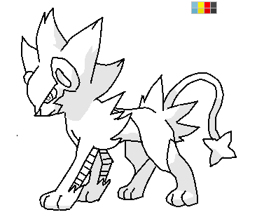 pokemon coloring pages shinx nicknames | Luxray base by sanja280 on DeviantArt