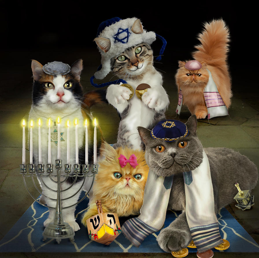 Hunukkah  Kitty Fam by preemiememe