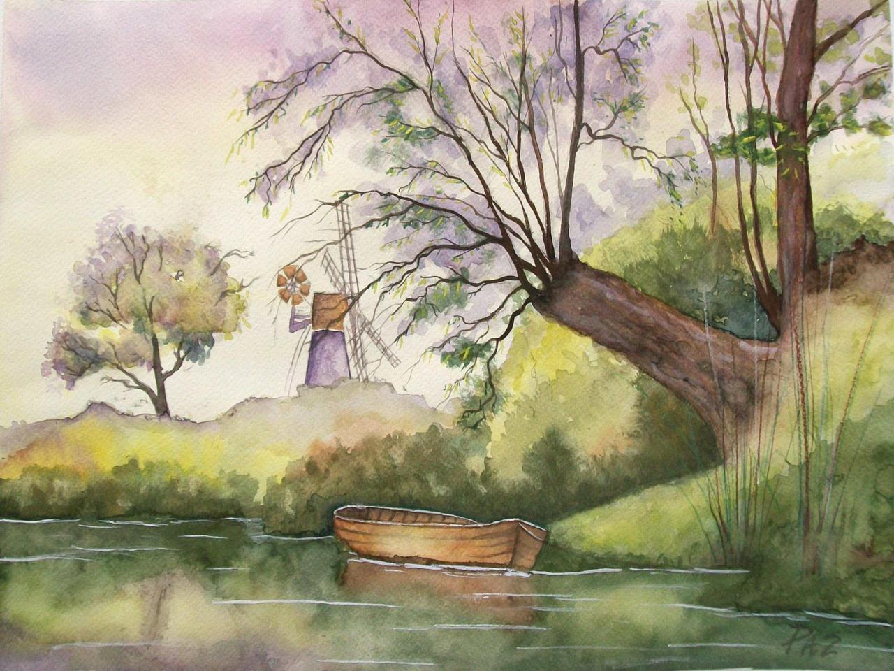 Barca y Molino by Terran-21