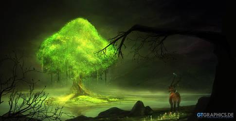 Glowing tree by gucken