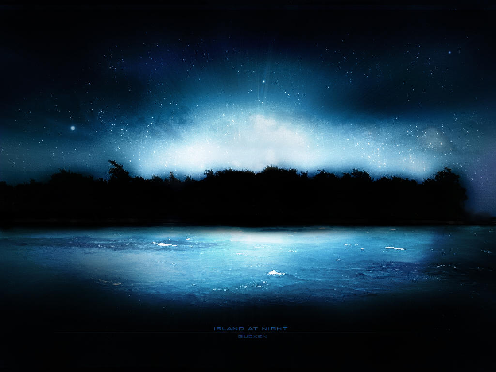 Island at Night by gucken