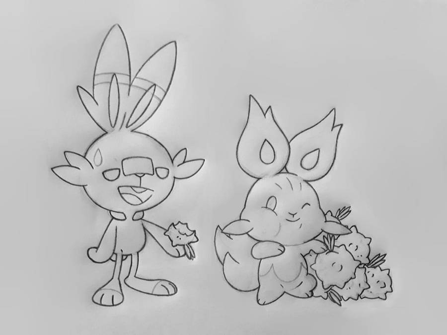 SCORBUNNY AND BURNNY by GregAndrade