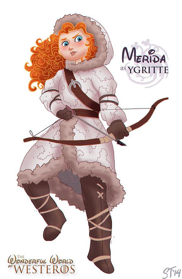 Merida as Ygritte by DjeDjehuti