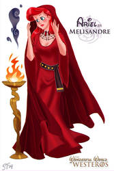 Ariel as Melisandre by DjeDjehuti