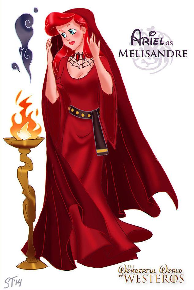 Ariel as Melisandre by DjeDjehuti