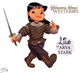 Lilo as Arya Stark