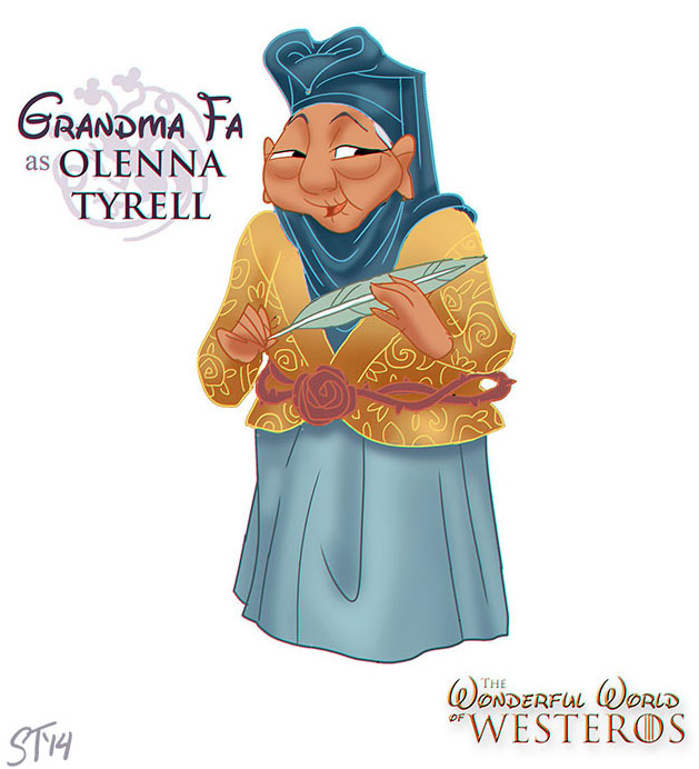 Grandma Fa as Olenna Tyrell by DjeDjehuti