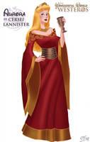 Aurora (Sleeping Beauty) as Cersei Lannister by DjeDjehuti