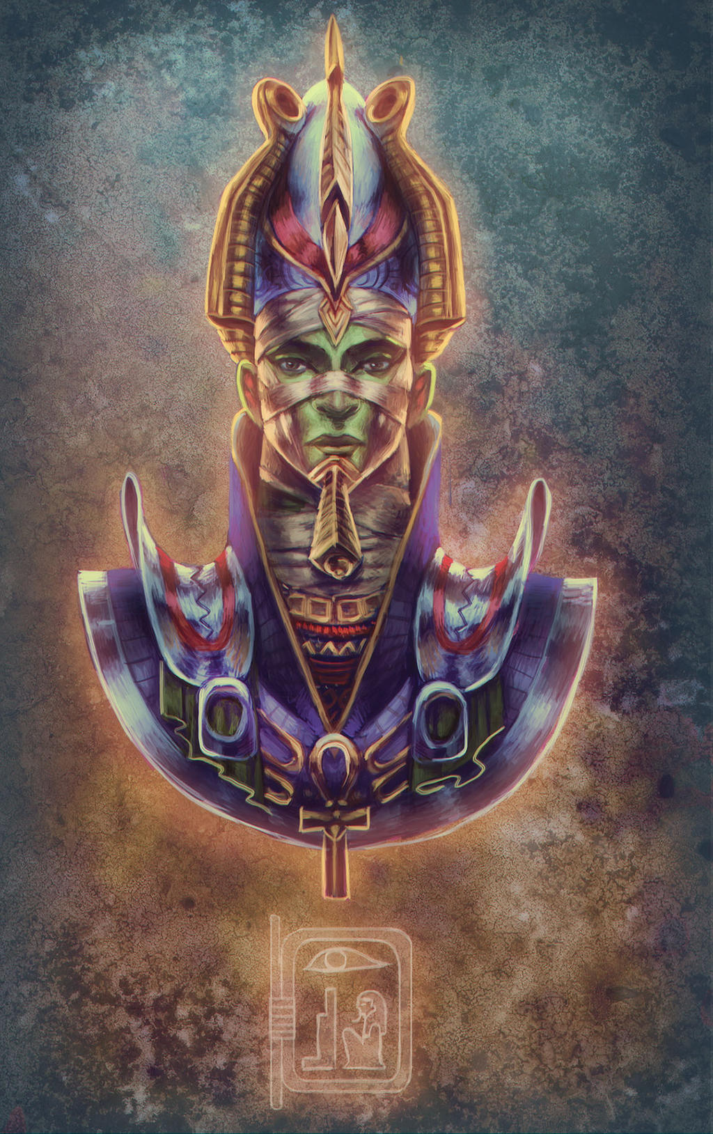 The gallery for egyptian art osiris for Art and craft drawing and painting