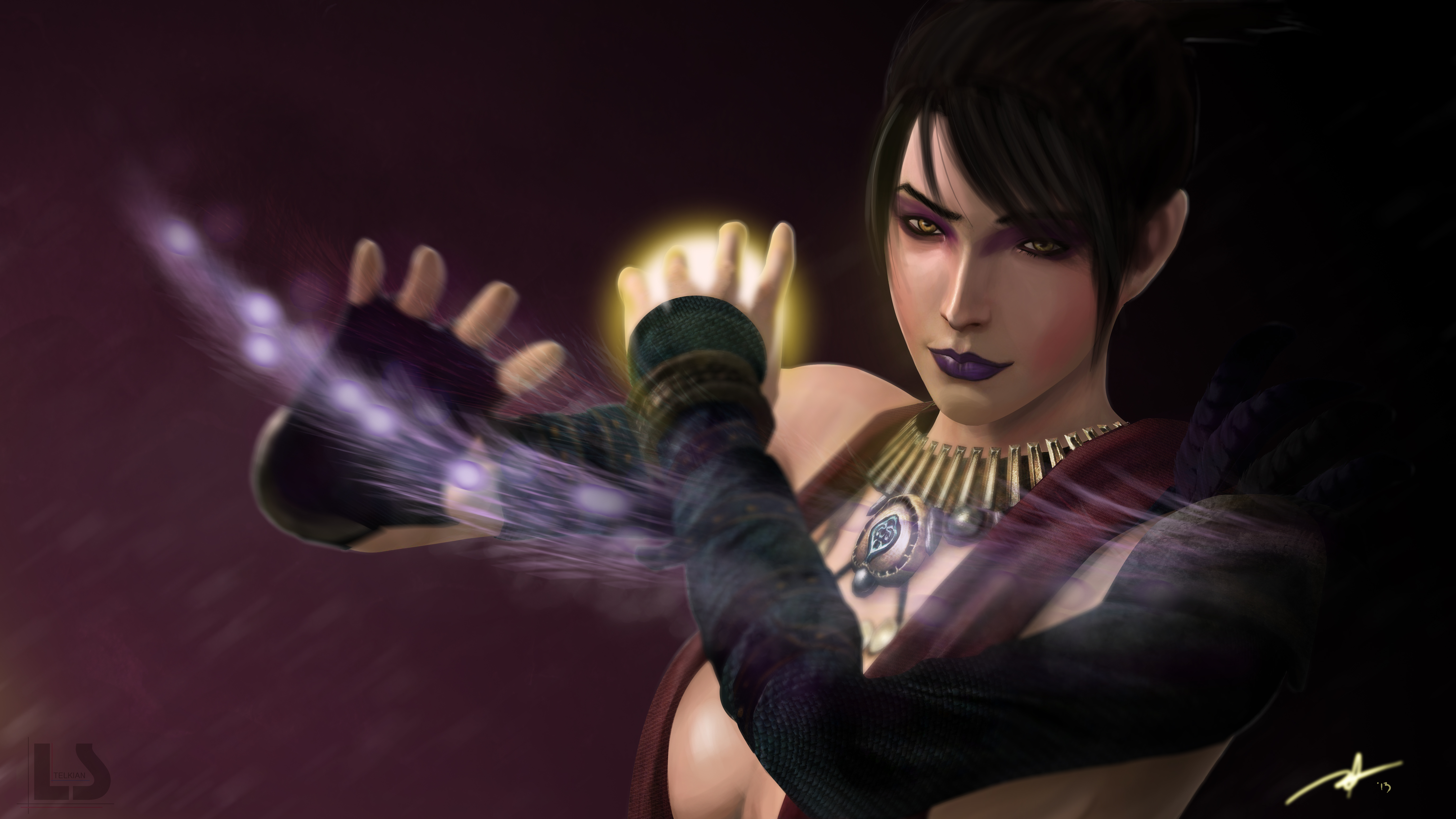 Dragon age morrigan by telkian on deviantart for Painting games com