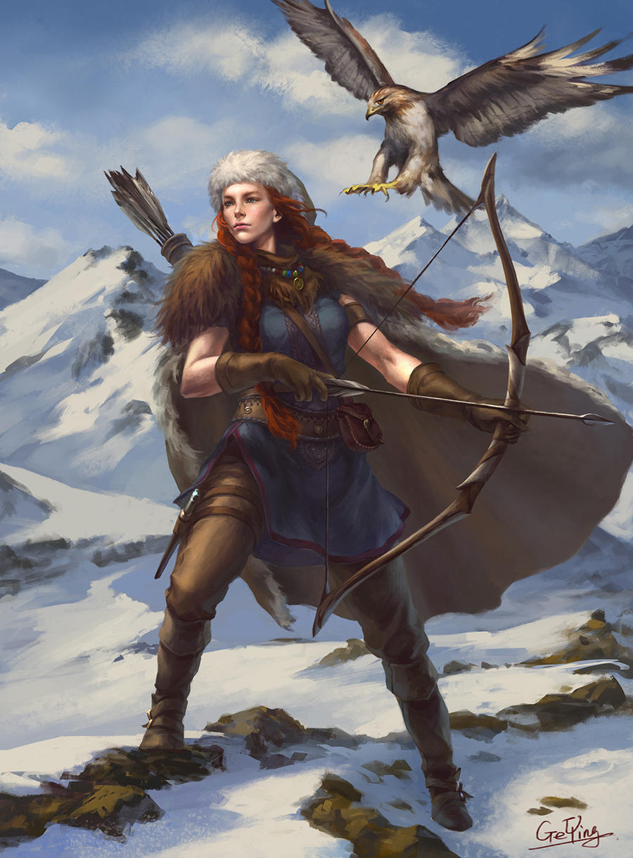 The Northern Huntress by geying
