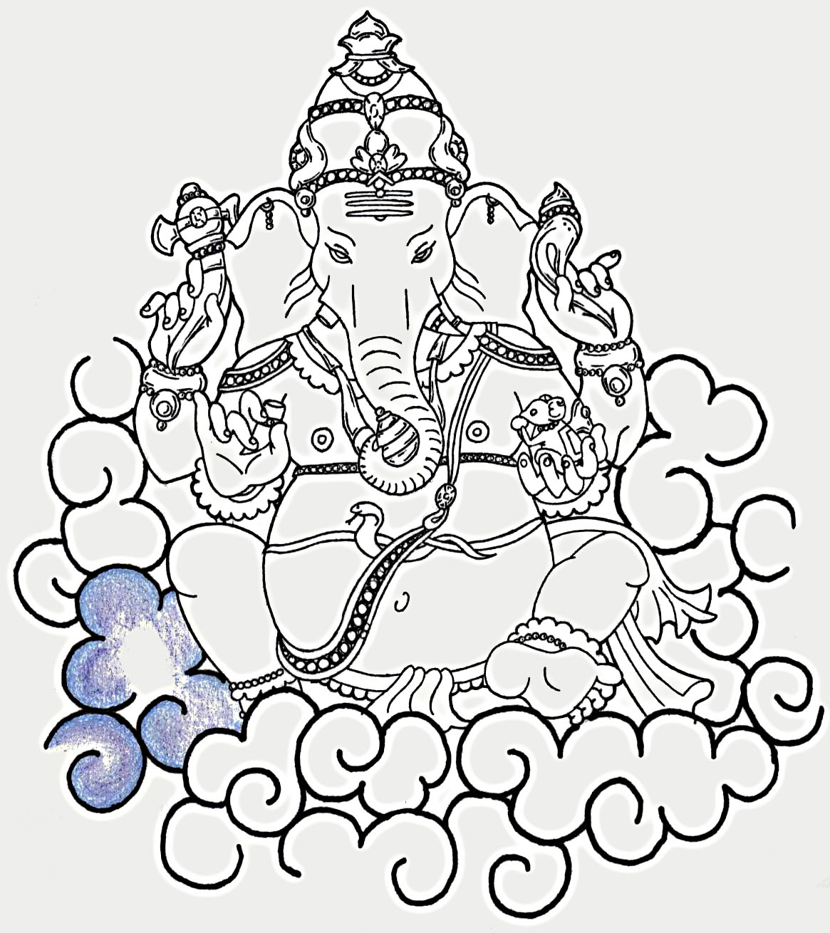 ganesh head tattoo outline - photo #23